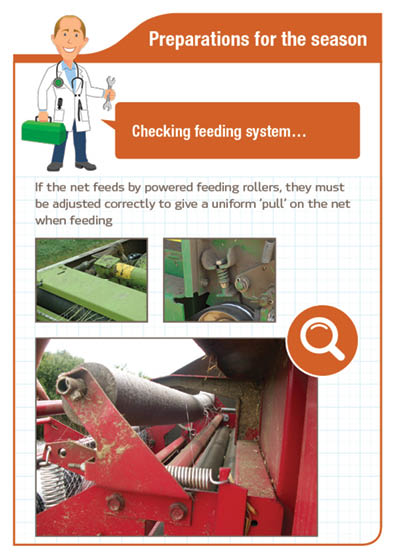 Preparation for the season Checking feeding system