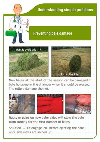 Understanding simple problems Preventing bale damage